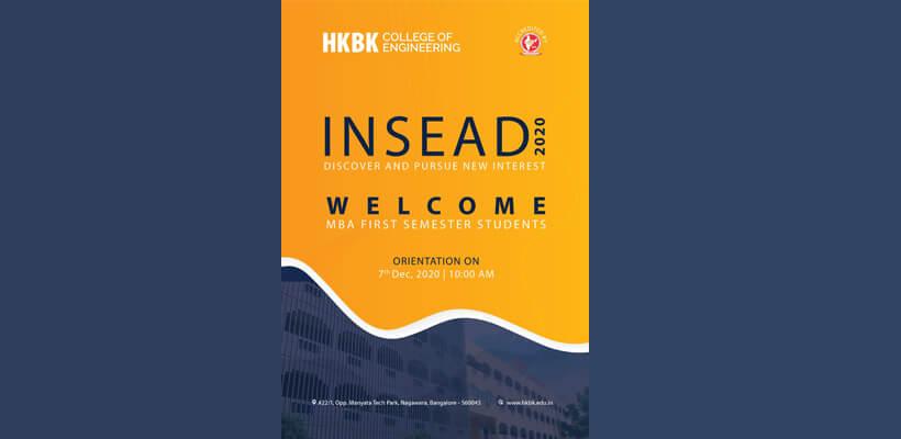 INSEAD-MBA Orientation 2020
